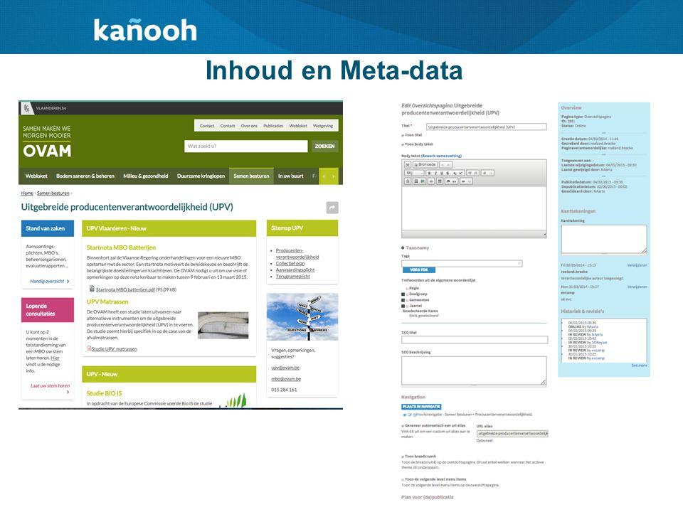 Inhoud en Meta-data