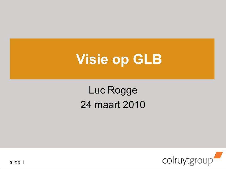 slide 1 Visie op GLB Luc Rogge 24 maart 2010