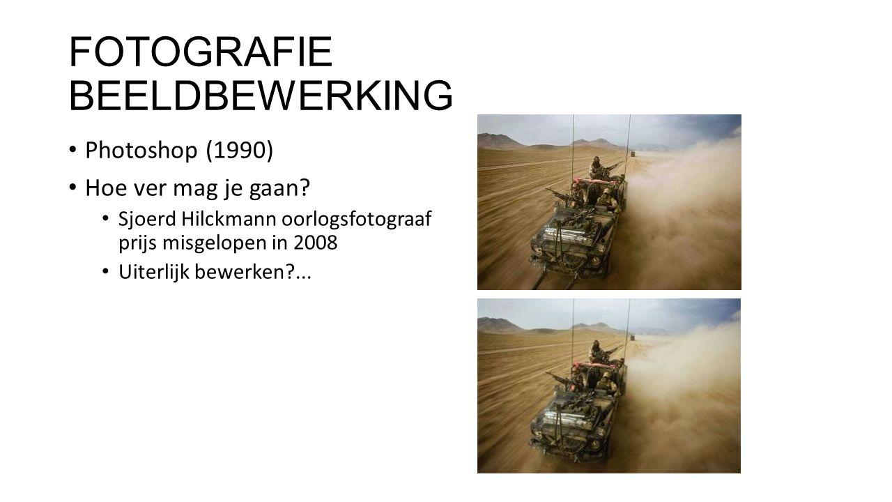 FOTOGRAFIE BEELDBEWERKING Photoshop (1990) Hoe ver mag je gaan.