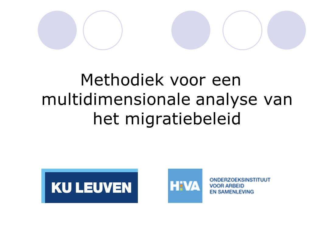 Methodiek voor een multidimensionale analyse van het migratiebeleid