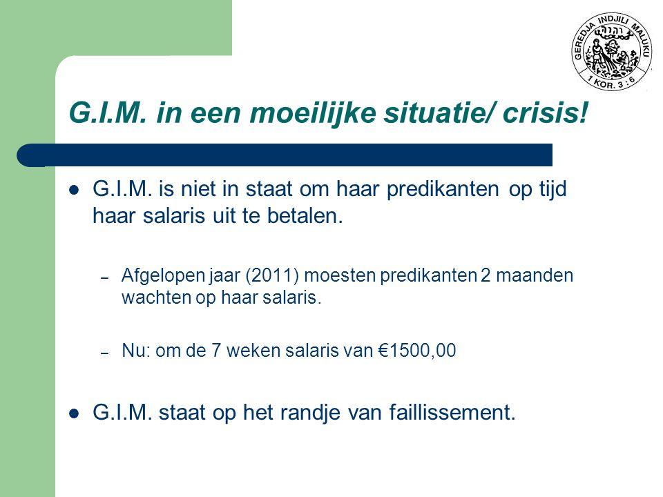 G.I.M.in een moeilijke situatie/ crisis. G.I.M.