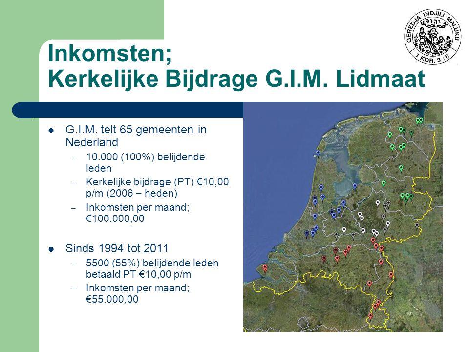 Inkomsten; Kerkelijke Bijdrage G.I.M.Lidmaat G.I.M.