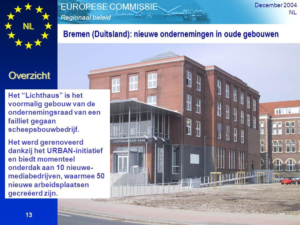 """NL Overzicht Regionaal beleid EUROPESE COMMISSIE December 2004 NL 13 Het """"Lichthaus"""" is het voormalig gebouw van de ondernemingsraad van een failliet"""