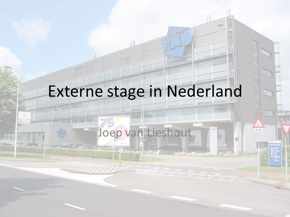 Externe stage in Nederland Joep van Lieshout