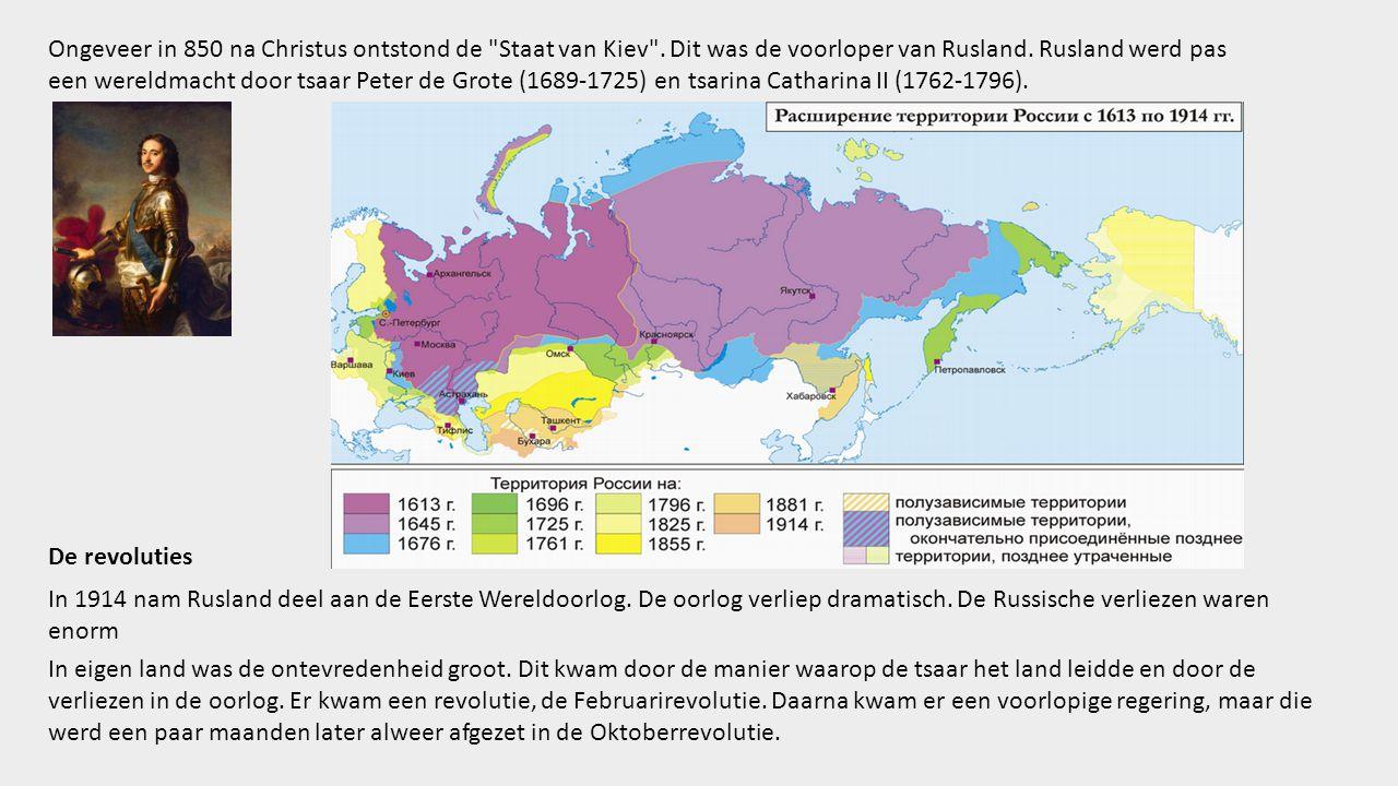 Ongeveer in 850 na Christus ontstond de Staat van Kiev .