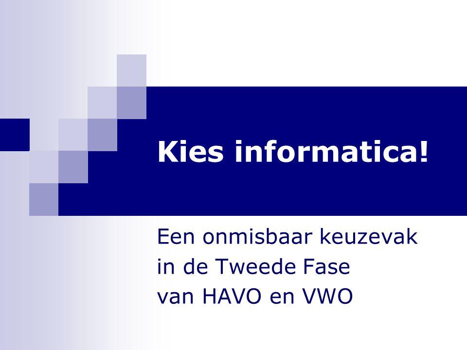 Kies informatica! Een onmisbaar keuzevak in de Tweede Fase van HAVO en VWO
