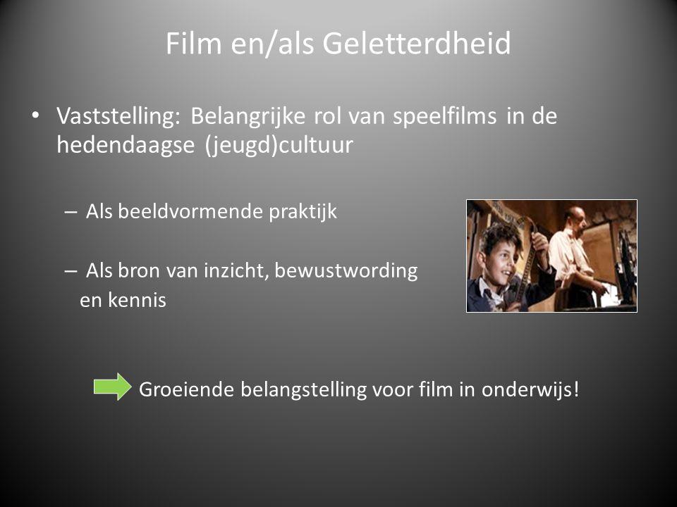 Vaststelling: Belangrijke rol van speelfilms in de hedendaagse (jeugd)cultuur – Als beeldvormende praktijk – Als bron van inzicht, bewustwording en kennis Groeiende belangstelling voor film in onderwijs.