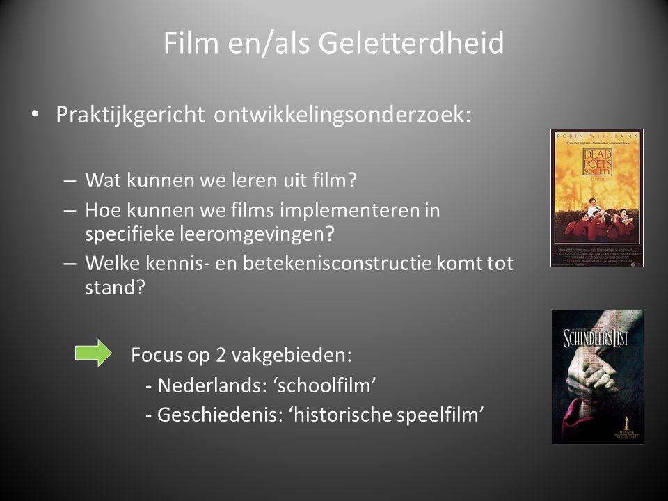 Praktijkgericht ontwikkelingsonderzoek: – Wat kunnen we leren uit film.
