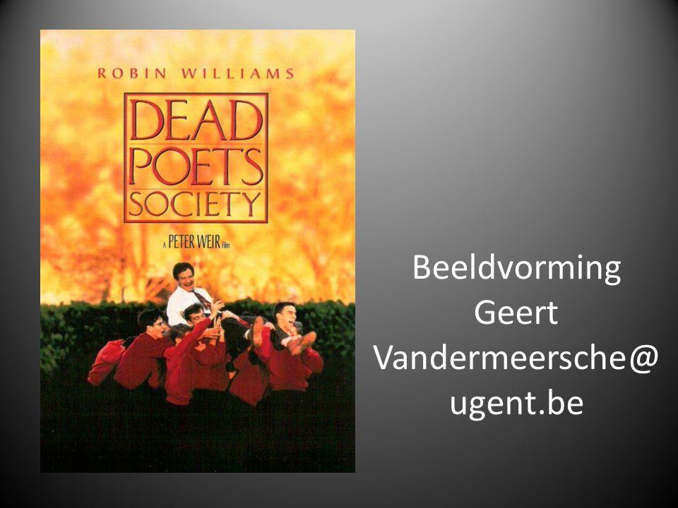 Beeldvorming Geert Vandermeersche@ ugent.be