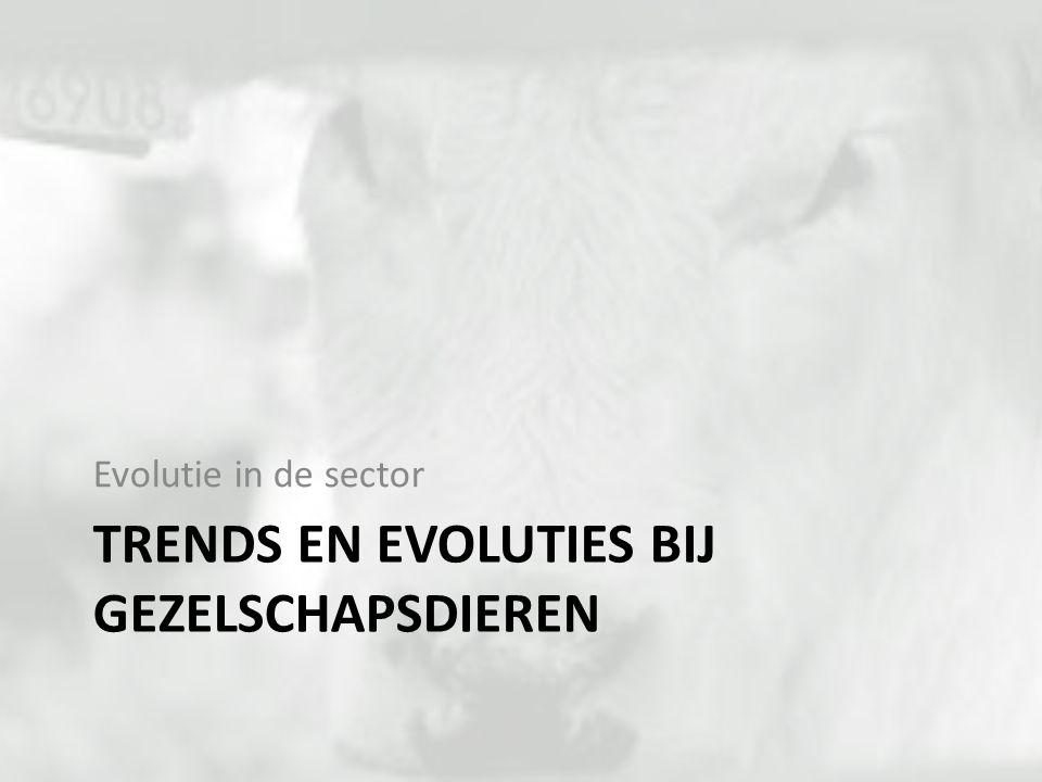 TRENDS EN EVOLUTIES BIJ GEZELSCHAPSDIEREN Evolutie in de sector
