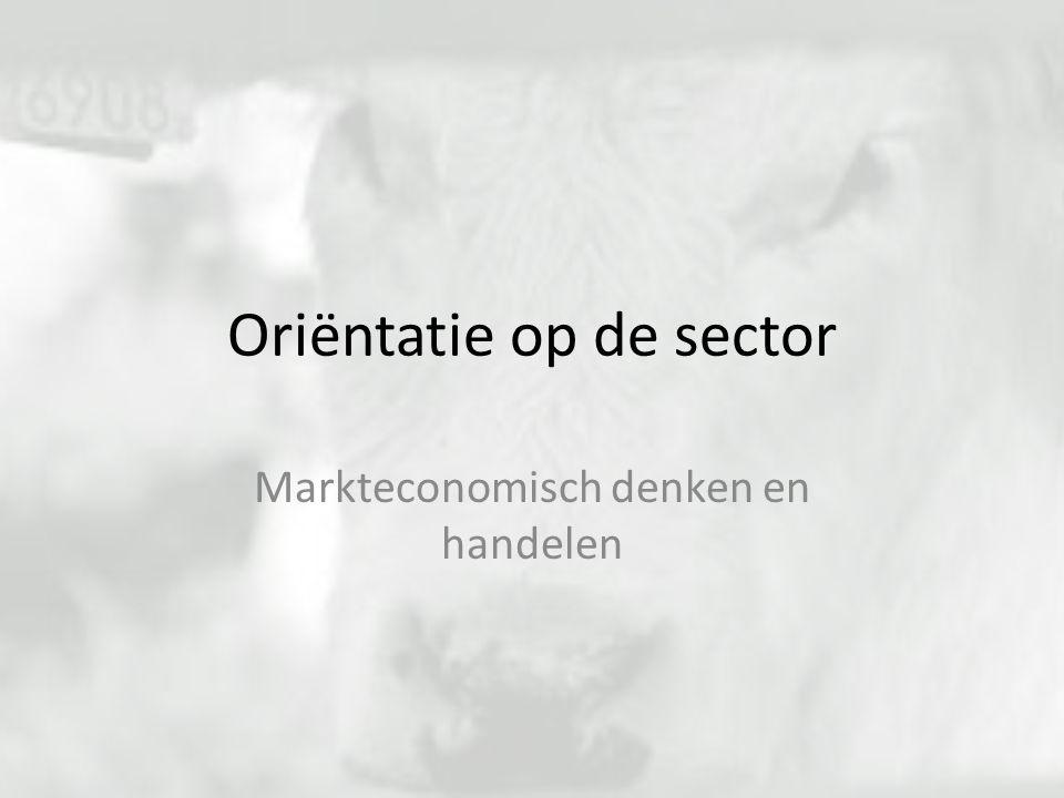 Oriëntatie op de sector Markteconomisch denken en handelen