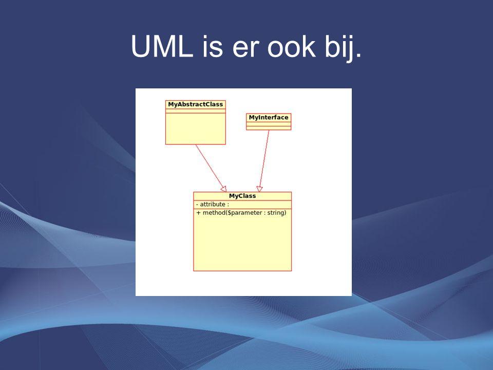 UML is er ook bij.