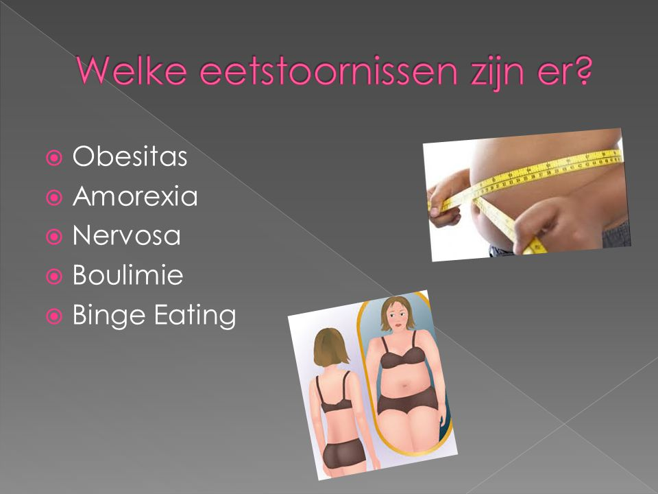  Obesitas  Amorexia  Nervosa  Boulimie  Binge Eating
