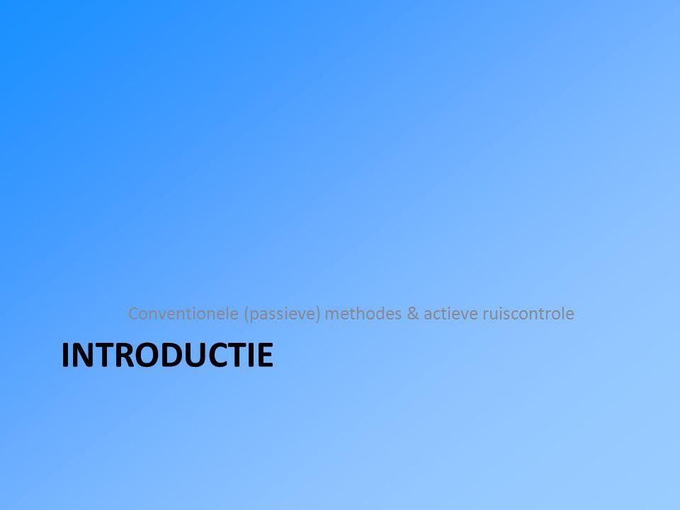 Overzicht Introductie Actieve controlestategieën Praktische toepassing Conclusie