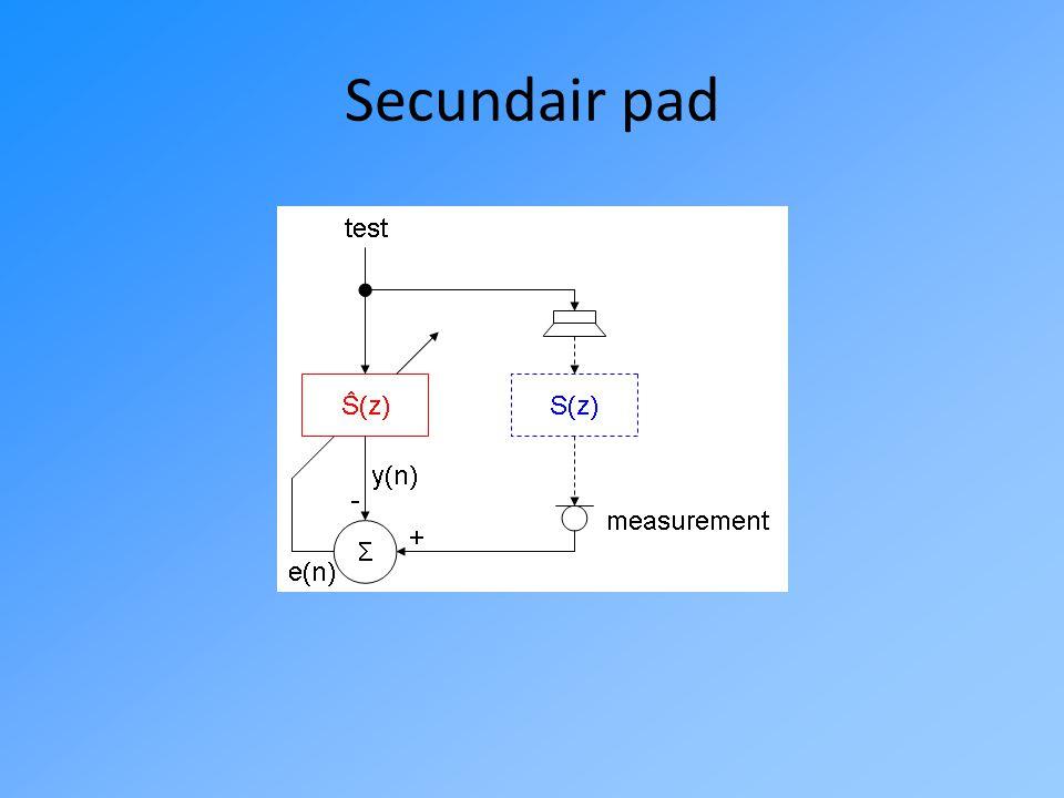 PRAKTISCHE TOEPASSING Resultaten uit MATLAB: secundair pad & feedforward/back