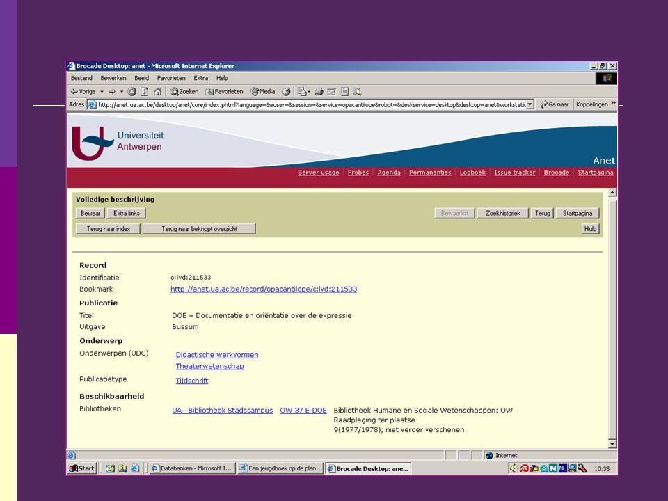 Website 6 Zoekmachine: Altavista Zoekterm: Jongeren en theater