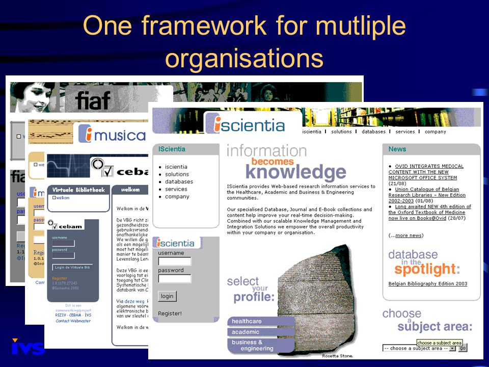 One framework for mutliple organisations