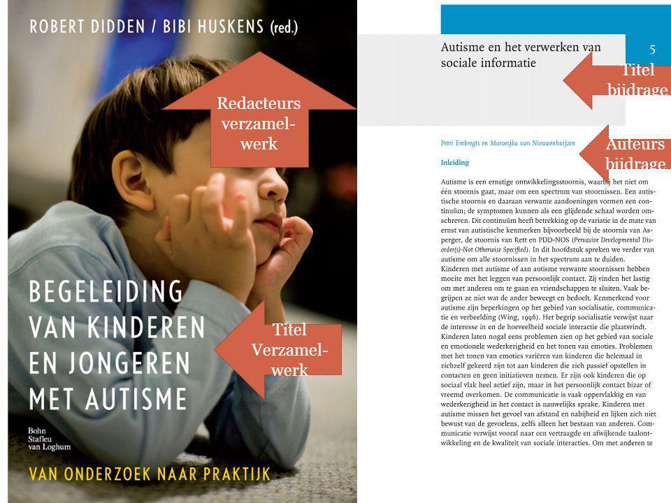 Auteurs bijdrage Redacteurs verzamel- werk Titel bijdrage Titel Verzamel- werk