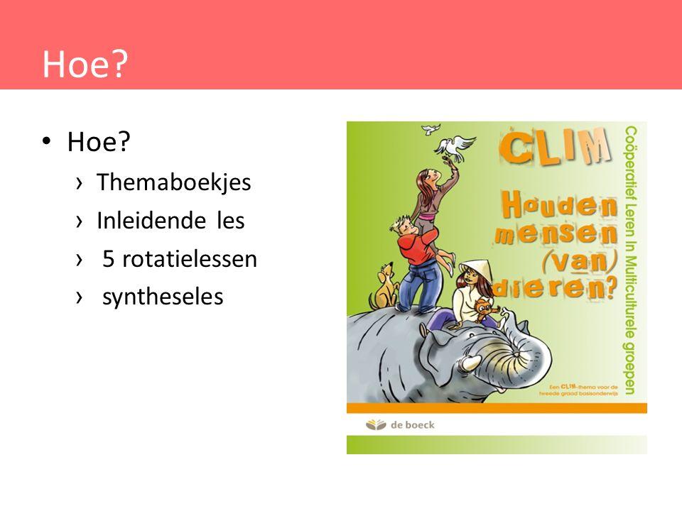 Materiaal Bronnenkaarten met informatieve info Activiteitenkaart (A= verkennend, B= verdiepende opdracht) Antwoordkaart Themaboekjes CLIM-wijzer voor leerkracht = handleiding