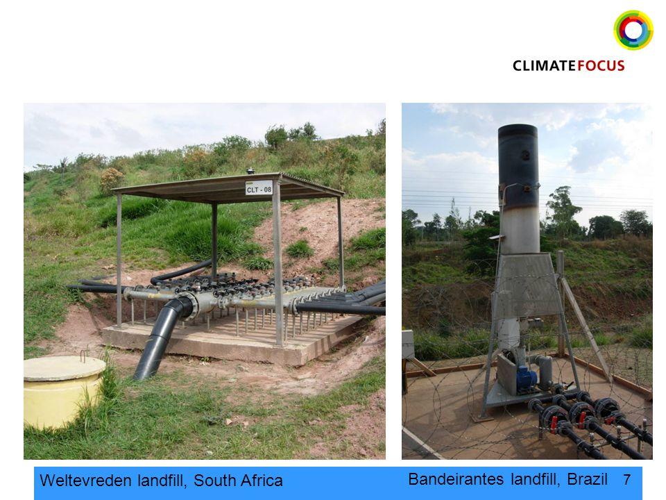 7 Bandeirantes landfill, Brazil Weltevreden landfill, South Africa