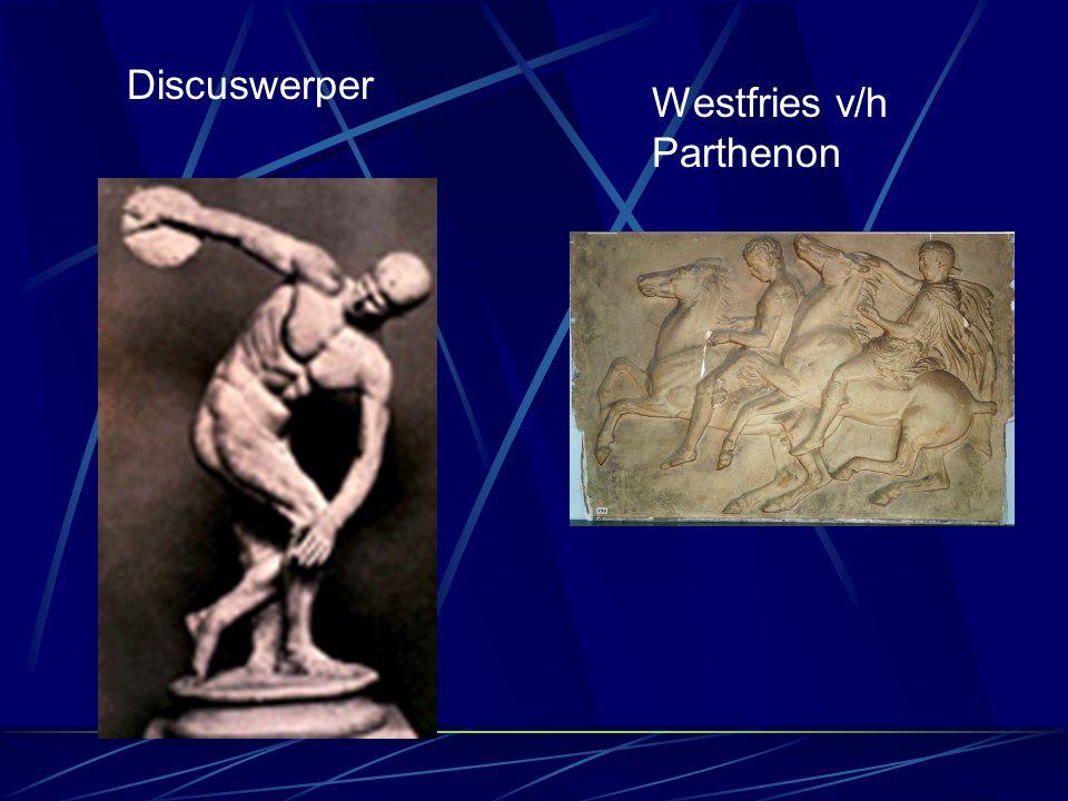 Hellentische periode  Hellentische kenmerken: - zeer sterk individualisme, dat naar boven kwam door ook levende personen weer te geven - veel emotie en veel beweging - meerdere aanzichten binnen het beeld