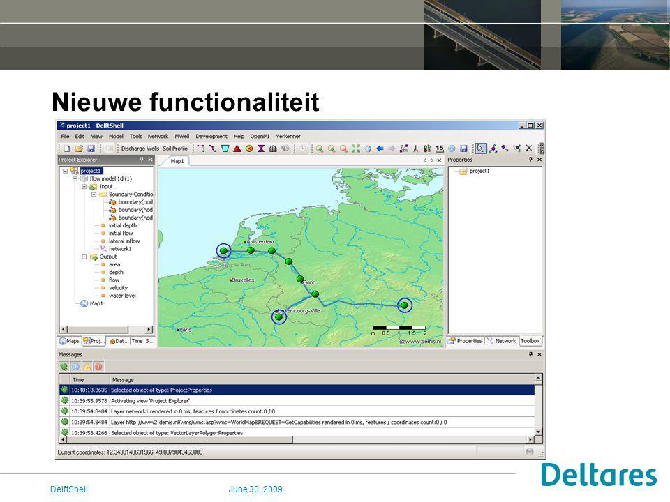 June 30, 2009DelftShell Nieuwe functionaliteit