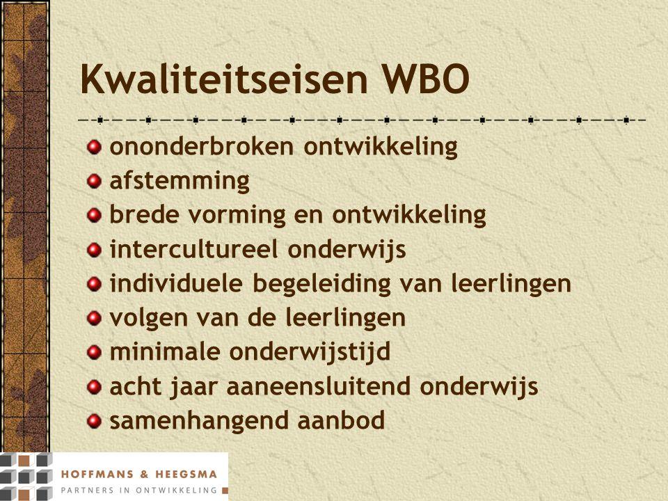 Kwaliteitseisen WBO ononderbroken ontwikkeling afstemming brede vorming en ontwikkeling intercultureel onderwijs individuele begeleiding van leerlinge