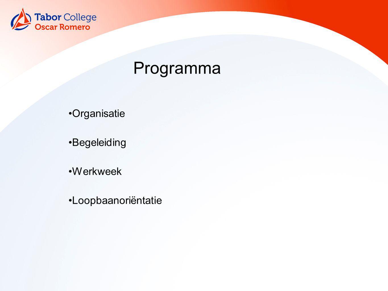 Organisatie Begeleiding Werkweek Loopbaanoriëntatie Programma