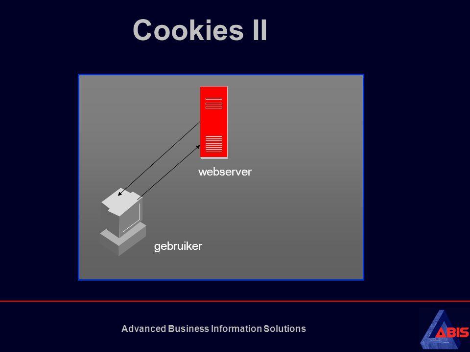 Advanced Business Information Solutions Cookies II webserver gebruiker