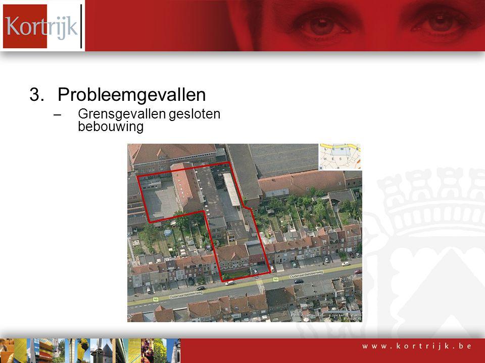 3.Probleemgevallen –Grensgevallen gesloten bebouwing
