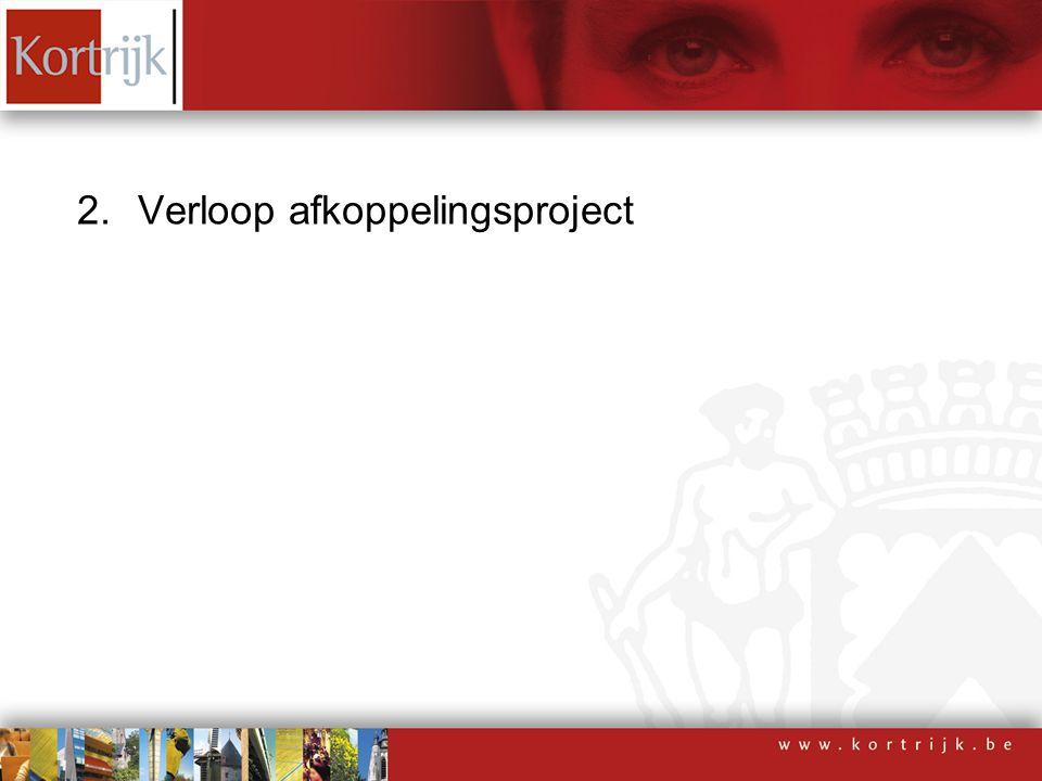 2.Verloop afkoppelingsproject