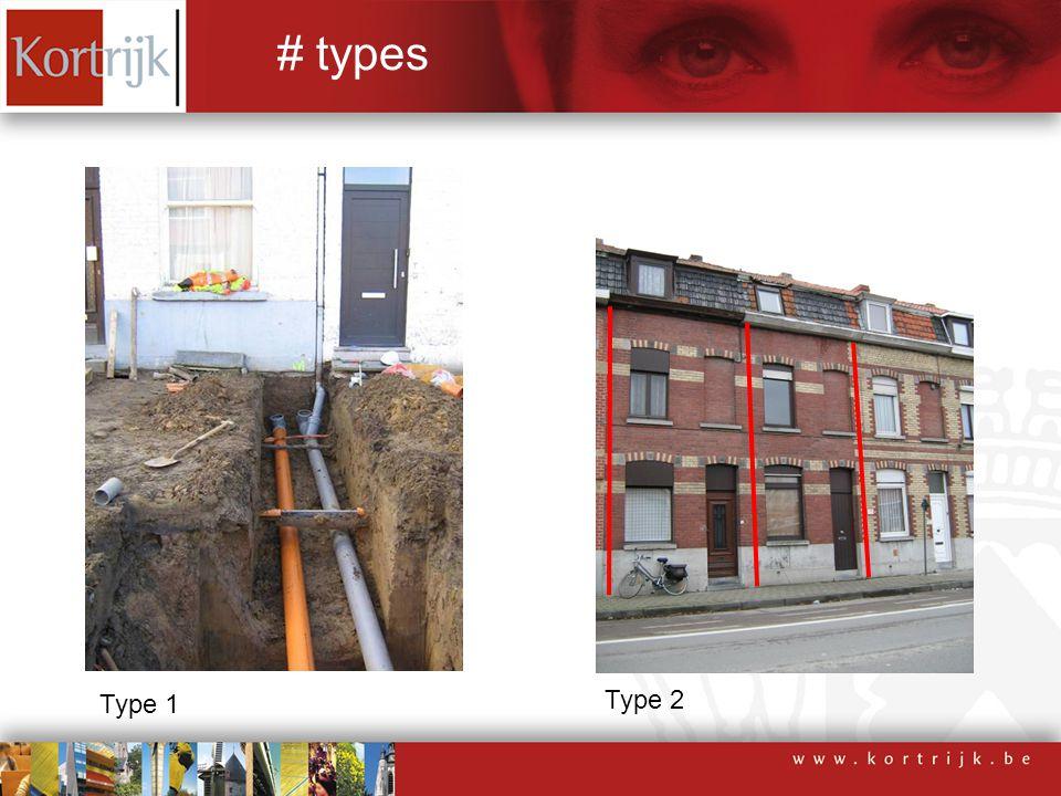 Type 1 Type 2 # types