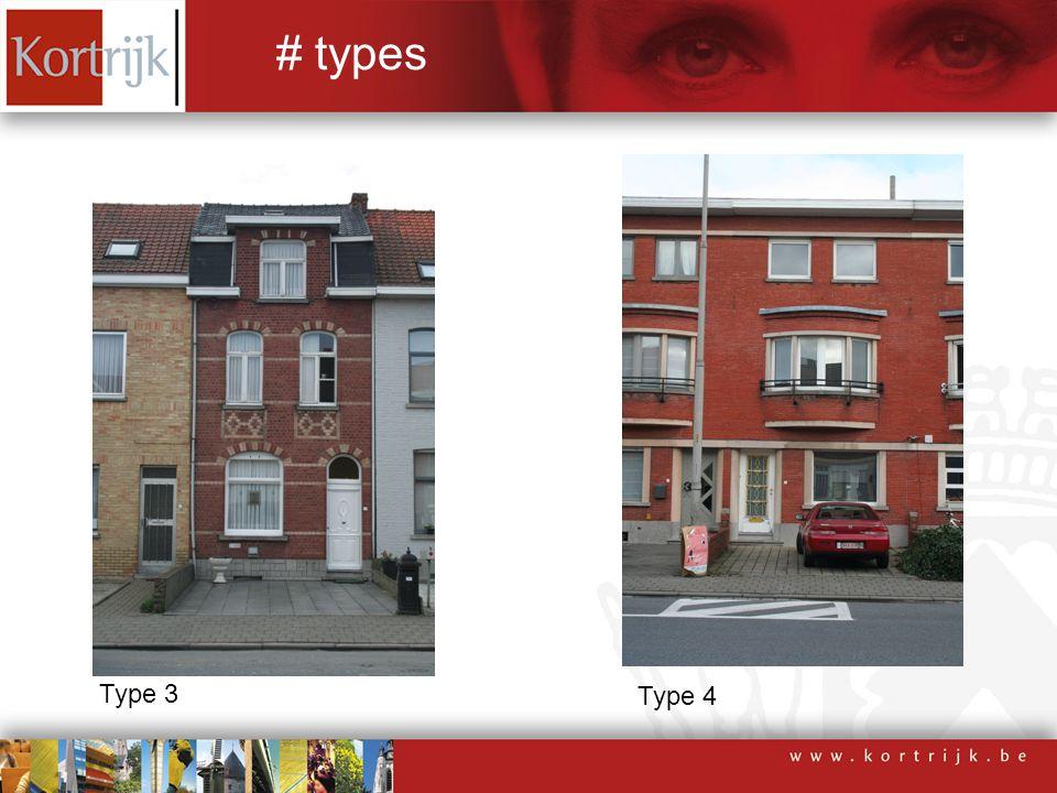 Type 3 Type 4 # types