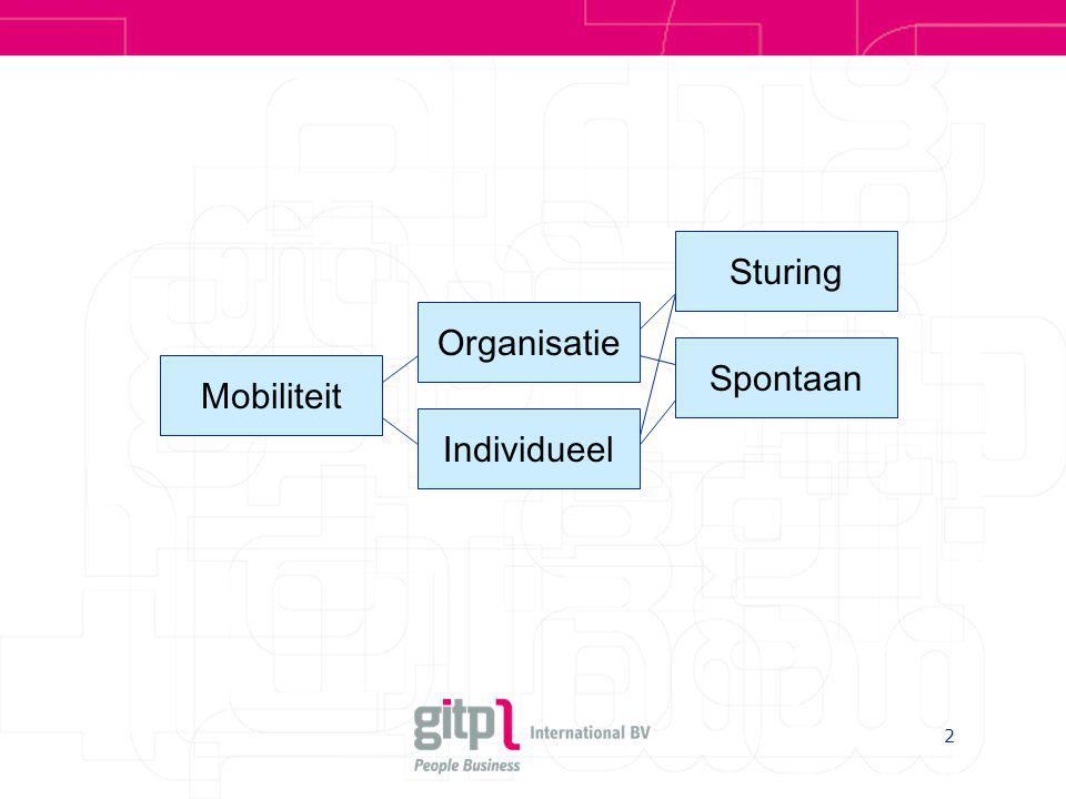 2 Mobiliteit Organisatie Sturing Spontaan Individueel