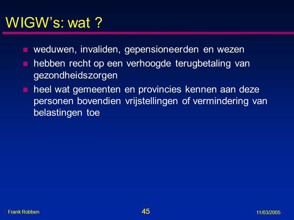 45 Frank Robben 11/03/2005 WIGW's: wat .