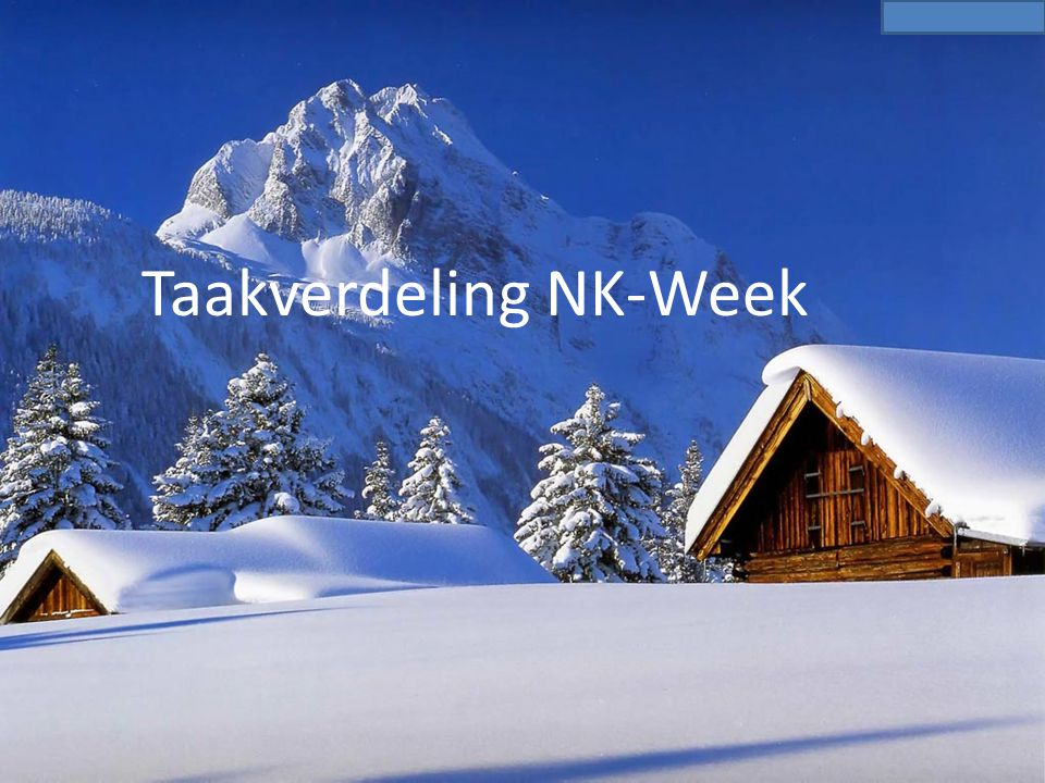 Taakverdeling NK-Week