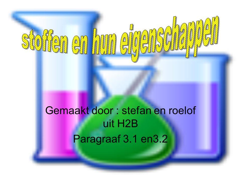 Gemaakt door : stefan en roelof uit H2B Paragraaf 3.1 en3.2