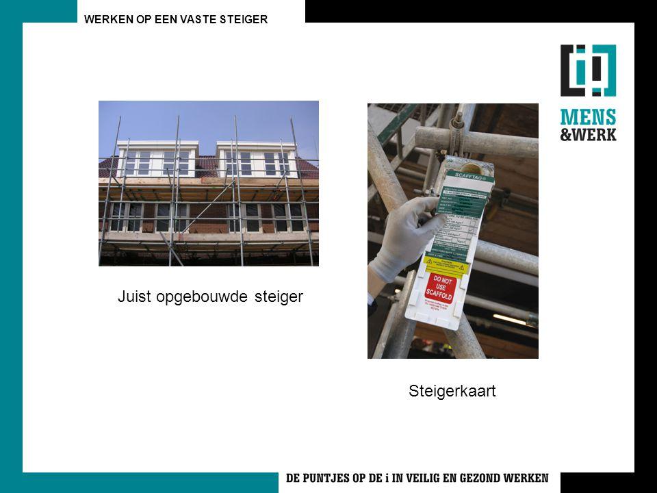 WERKEN OP EEN VASTE STEIGER Juist opgebouwde steiger Steigerkaart