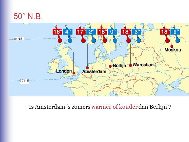 Is Amsterdam 's zomers warmer of kouder dan Berlijn .