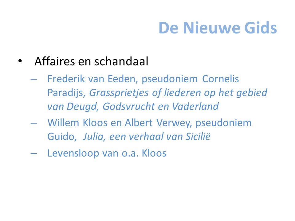 De Nieuwe Gids Affaires en schandaal – Frederik van Eeden, pseudoniem Cornelis Paradijs, Grassprietjes of liederen op het gebied van Deugd, Godsvrucht