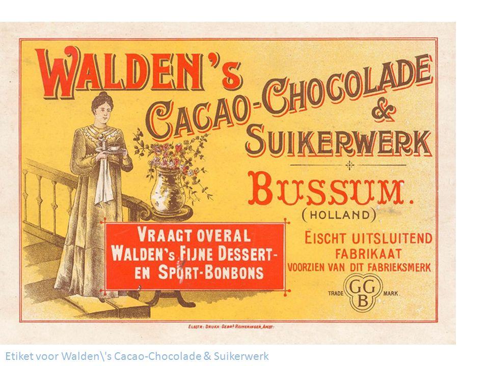 Etiket voor Walden\'s Cacao-Chocolade & Suikerwerk