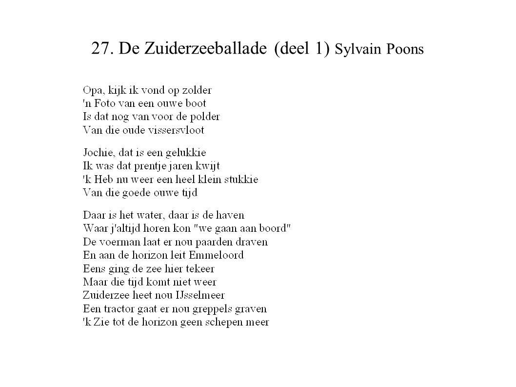27. De Zuiderzeeballade (deel 1) Sylvain Poons