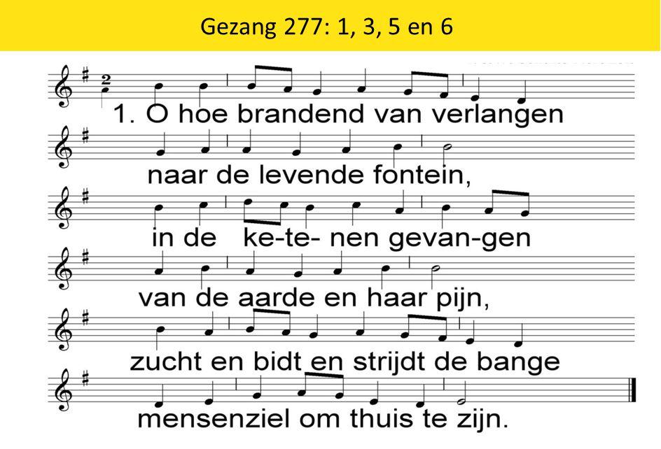 Gezang 277: 1, 3, 5 en 6