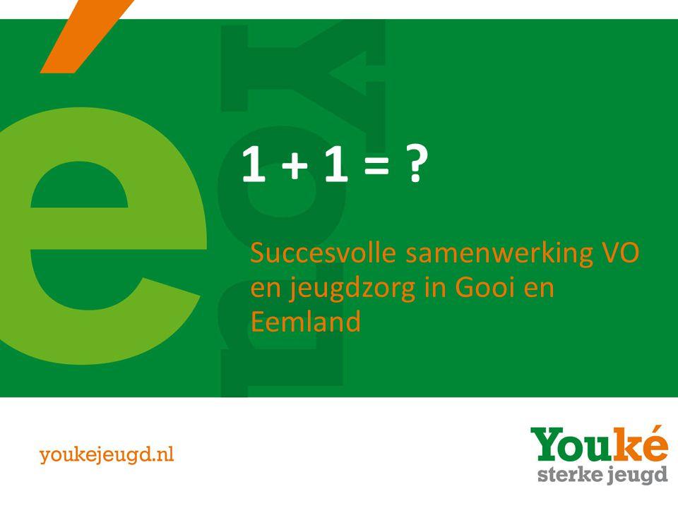 1 + 1 = ? Succesvolle samenwerking VO en jeugdzorg in Gooi en Eemland