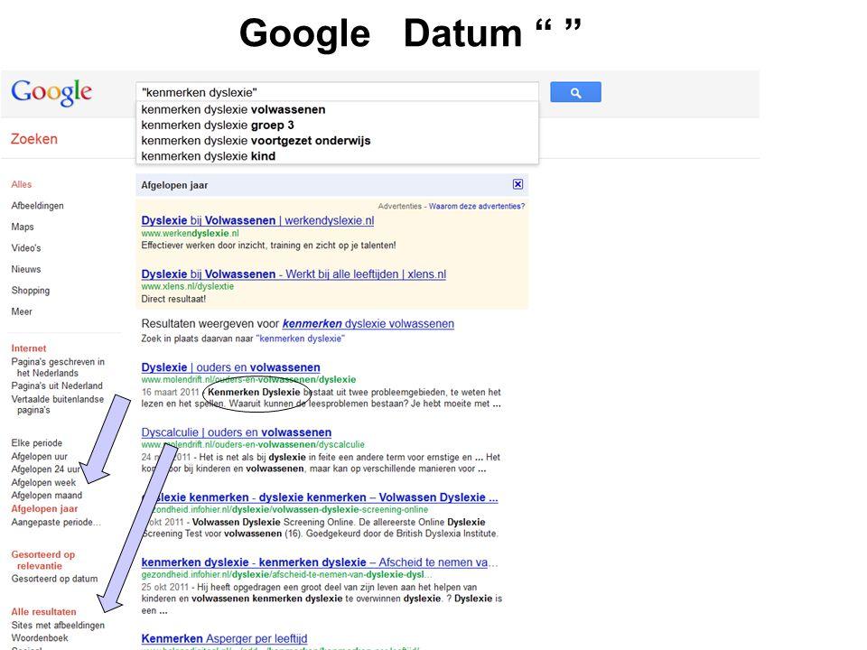 """Google Datum """" """""""