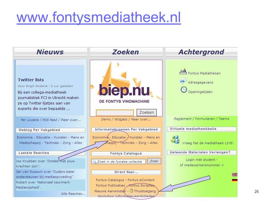 26 www.fontysmediatheek.nl