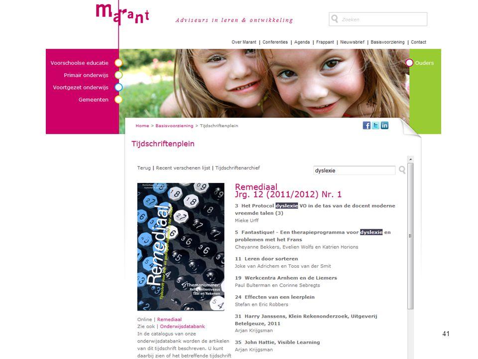 Tijdschriftenplein Marant Waar in Google: tijdschriftenplein Marant -Overzicht tijdschriften -Alleen titels/inhoudsopgaven -Zoekfunctie -Geen pdf .