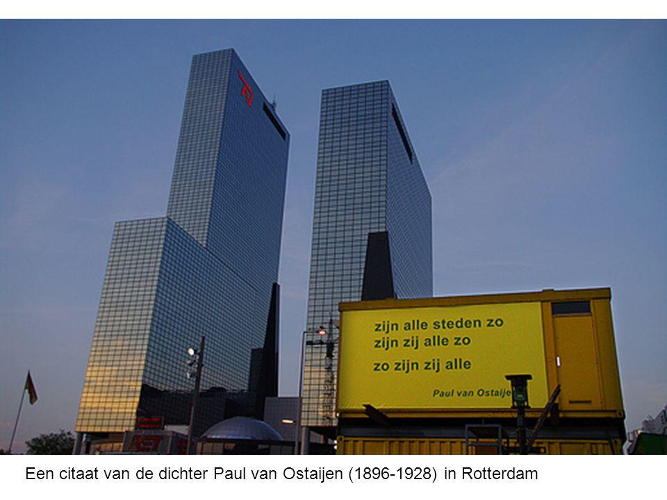 Een citaat van de dichter Paul van Ostaijen (1896-1928) in Rotterdam