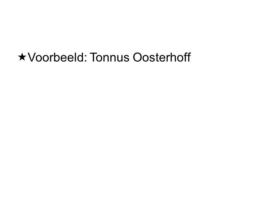  Voorbeeld: Tonnus Oosterhoff