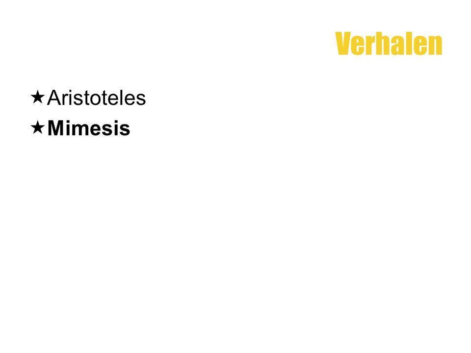 Verhalen  Aristoteles  Mimesis